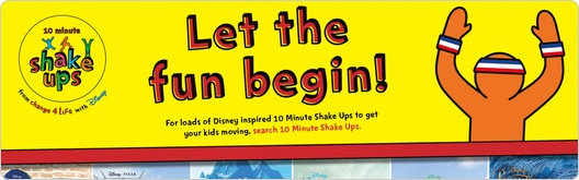 Change4Life - Shake Ups - Get your kids moving this summer with active games inspired by all their Disney favourites.