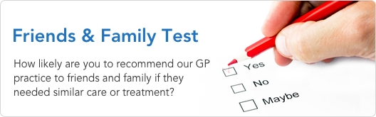 GP Friends and Family Test - Would You Recommend Wellway Medical Group?