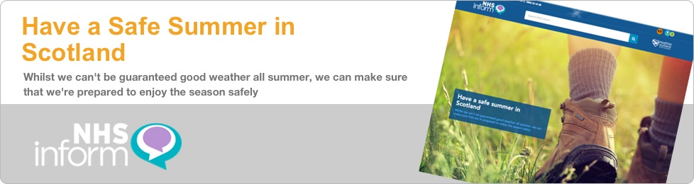 Whilst we can't be guaranteed good weather all summer, we can make sure that we're prepared to enjoy the season safely.