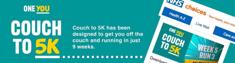 Couch to 5K has been designed to get you off the couch and running in just 9 weeks.