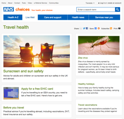 NHS Choices - Travel Health